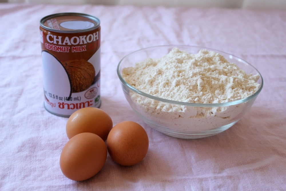 Coconut cake ingredients
