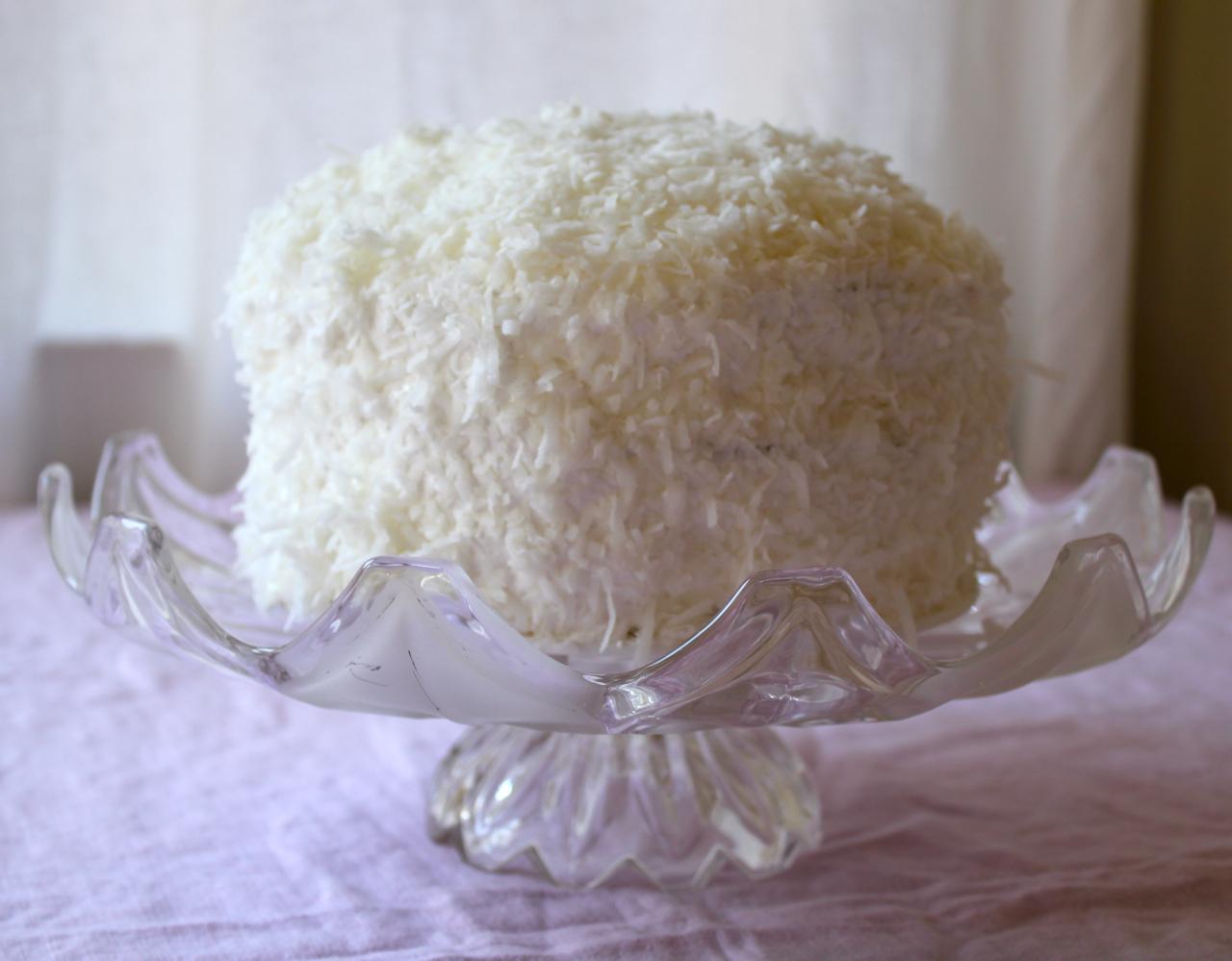 Fluffy White Coconut Cake Recipe