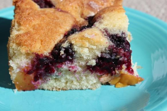 summer fruit butter cake