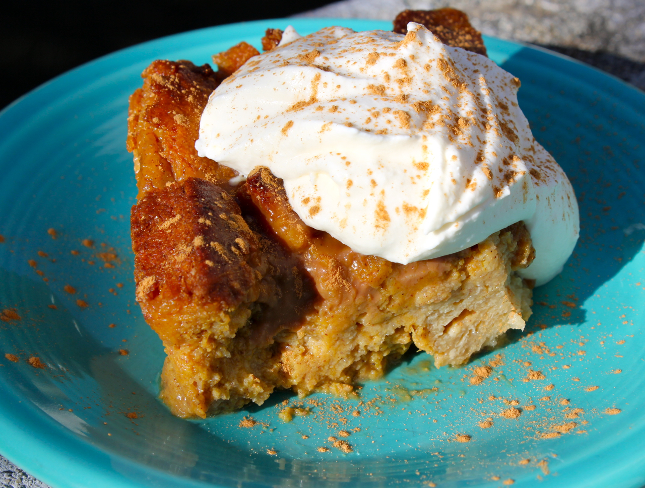Pumpkin Bread Pudding | Recipemuse