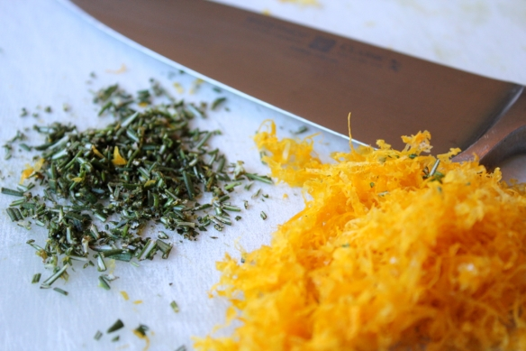 Lemon rosemary minced