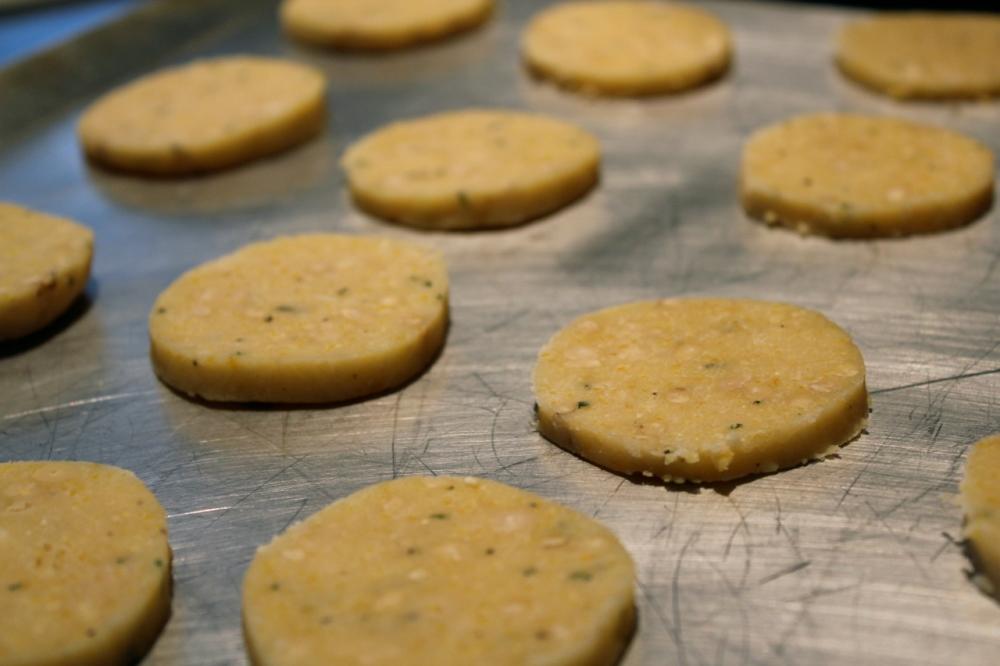 rosemary lemon cookie unbaked