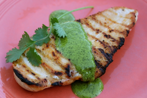 Cilantro Garlic Lime Sauce chicken