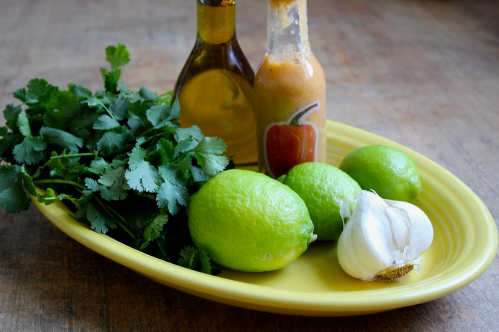 Cilantro Garlic Lime Sauce ingredients