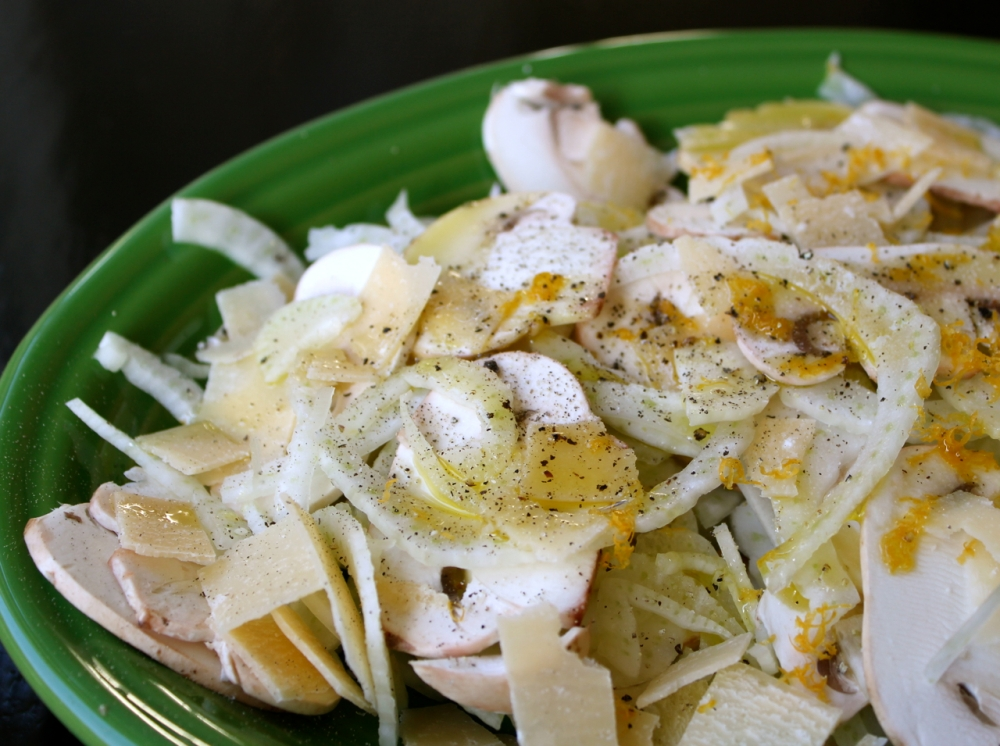 Fellen, Mushroom and Parmesean Salad
