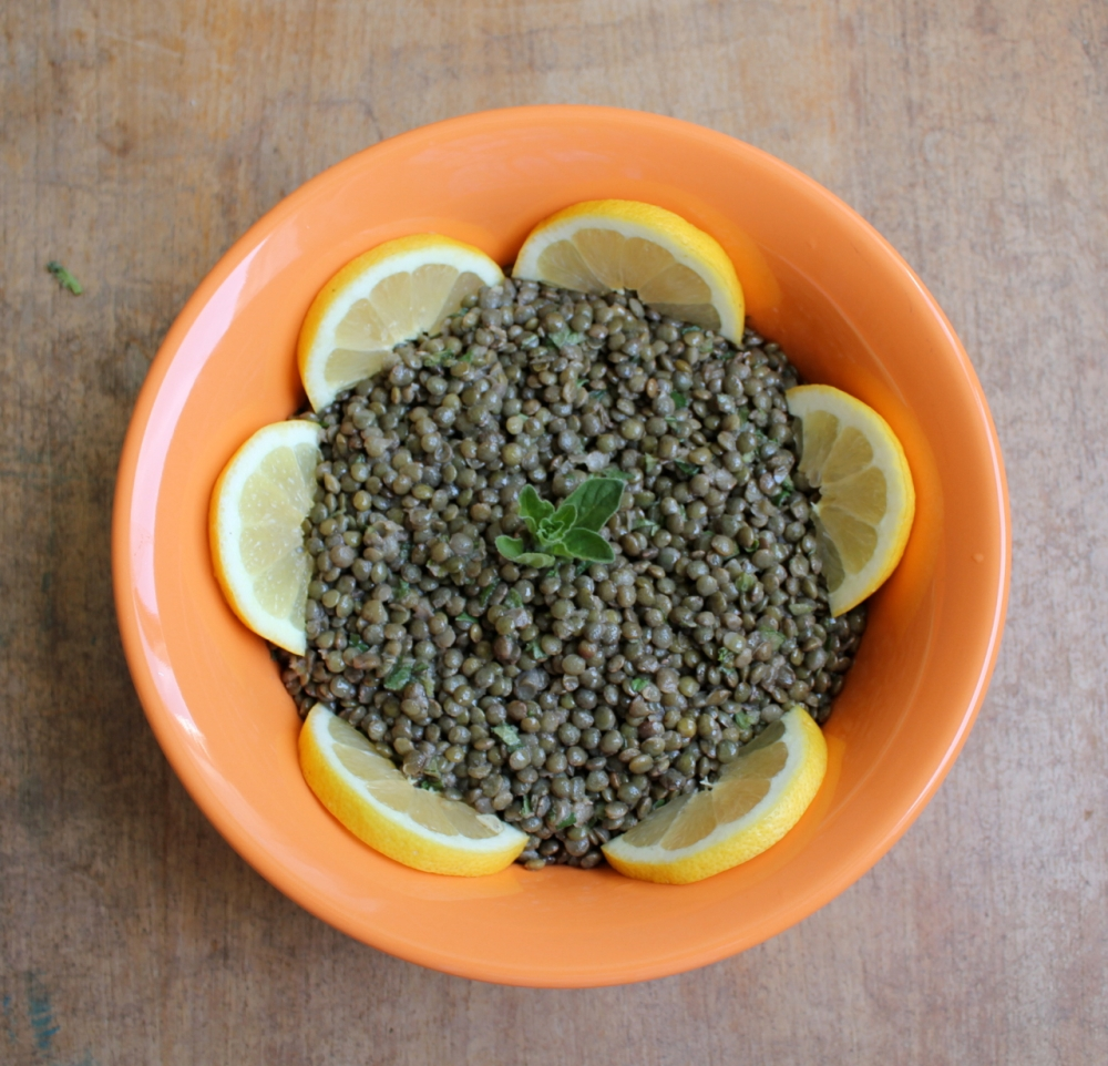 Green Lentils with Lemon and Oregano
