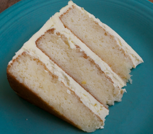 Lux Lemon Layer Cake slice