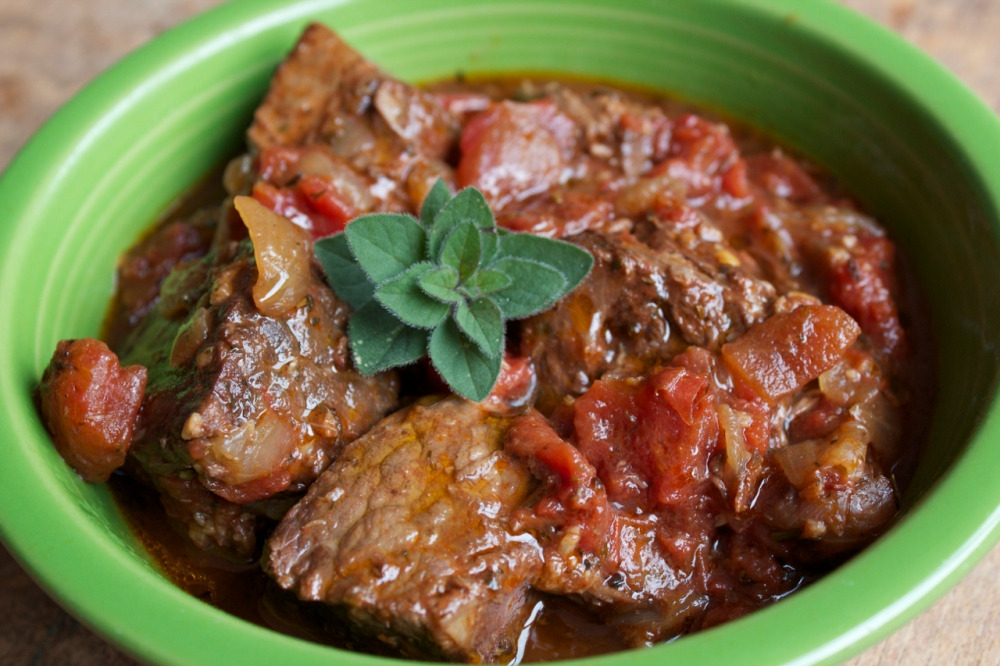 Beef Braised with Tomatoes