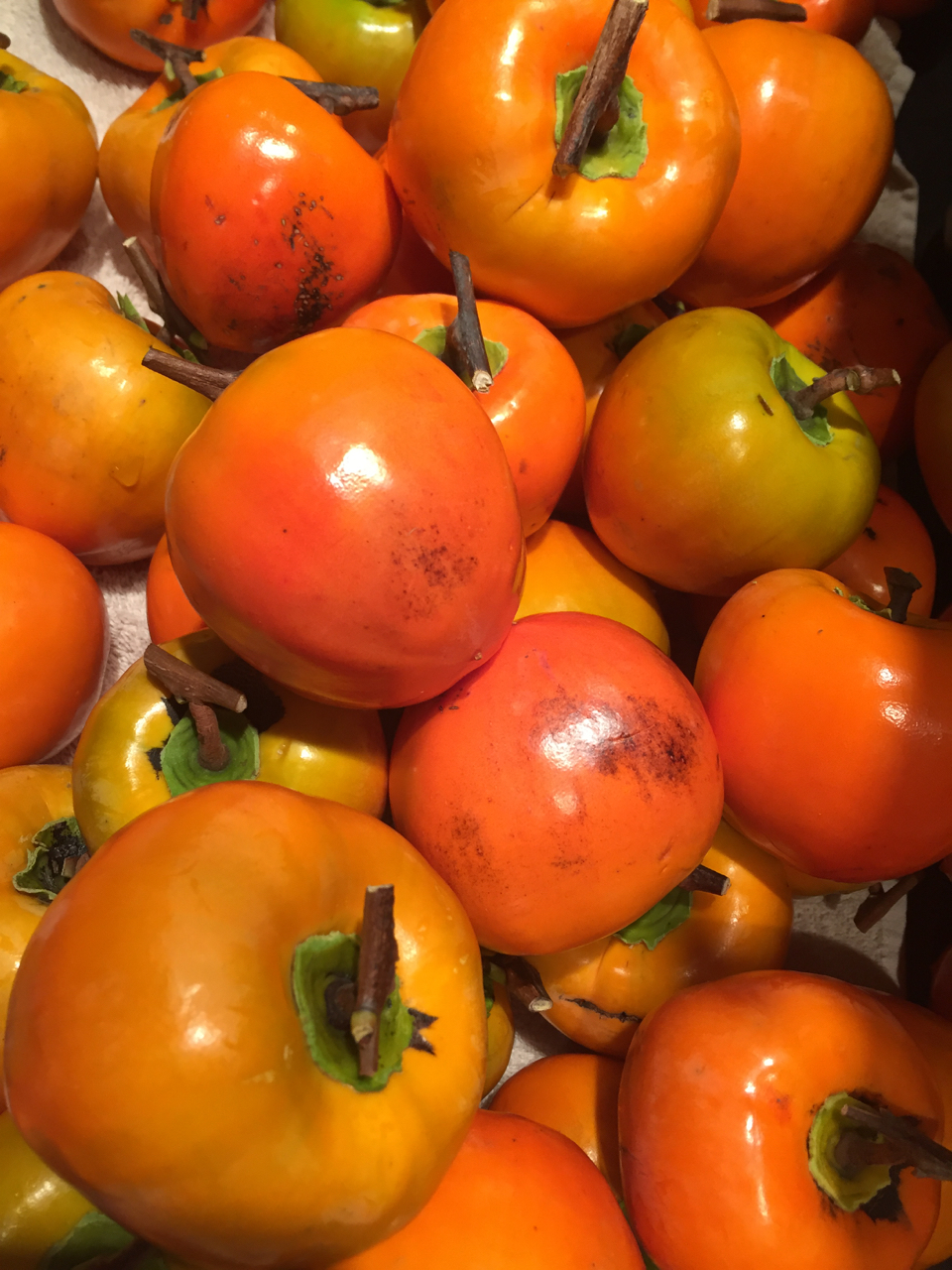 persimmons, washed and trimmed but not peeled
