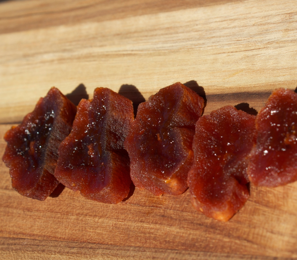 sliced of dried persimmon