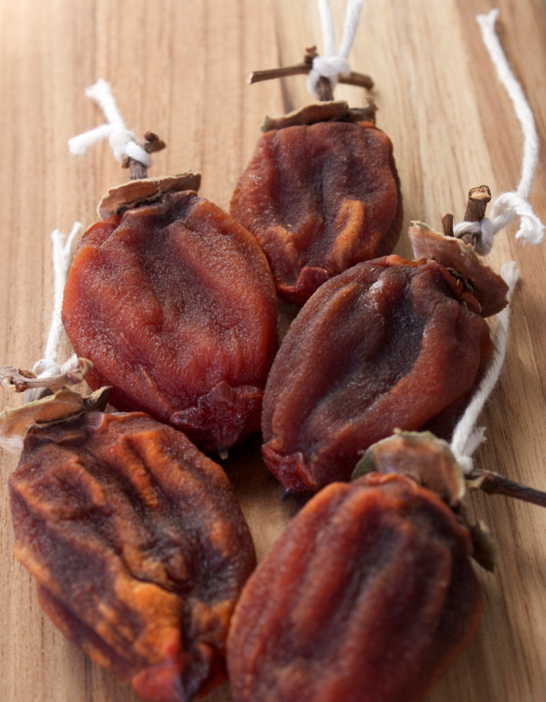 Dried whole persimmons, after 6 weeks