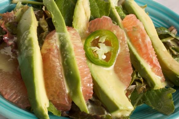 Pomelo Avocado Salad