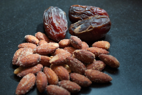 medjool dates and smoked almonds