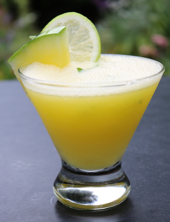 Yellow Watermelon Rum Slushie