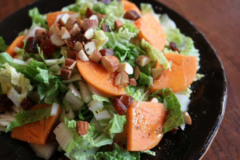Persimmon Napa Cabbage Salad