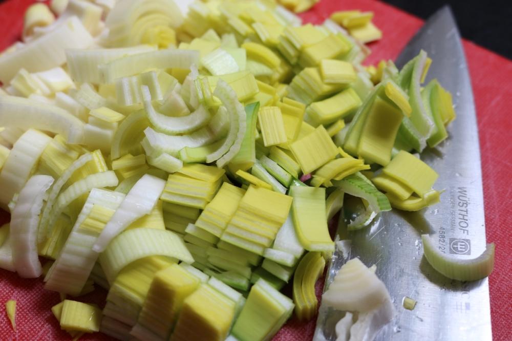 Leeks, chopped