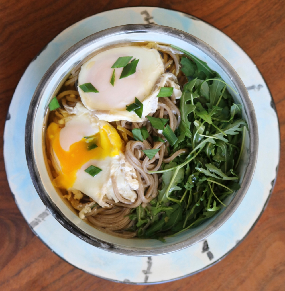 Soba with egg