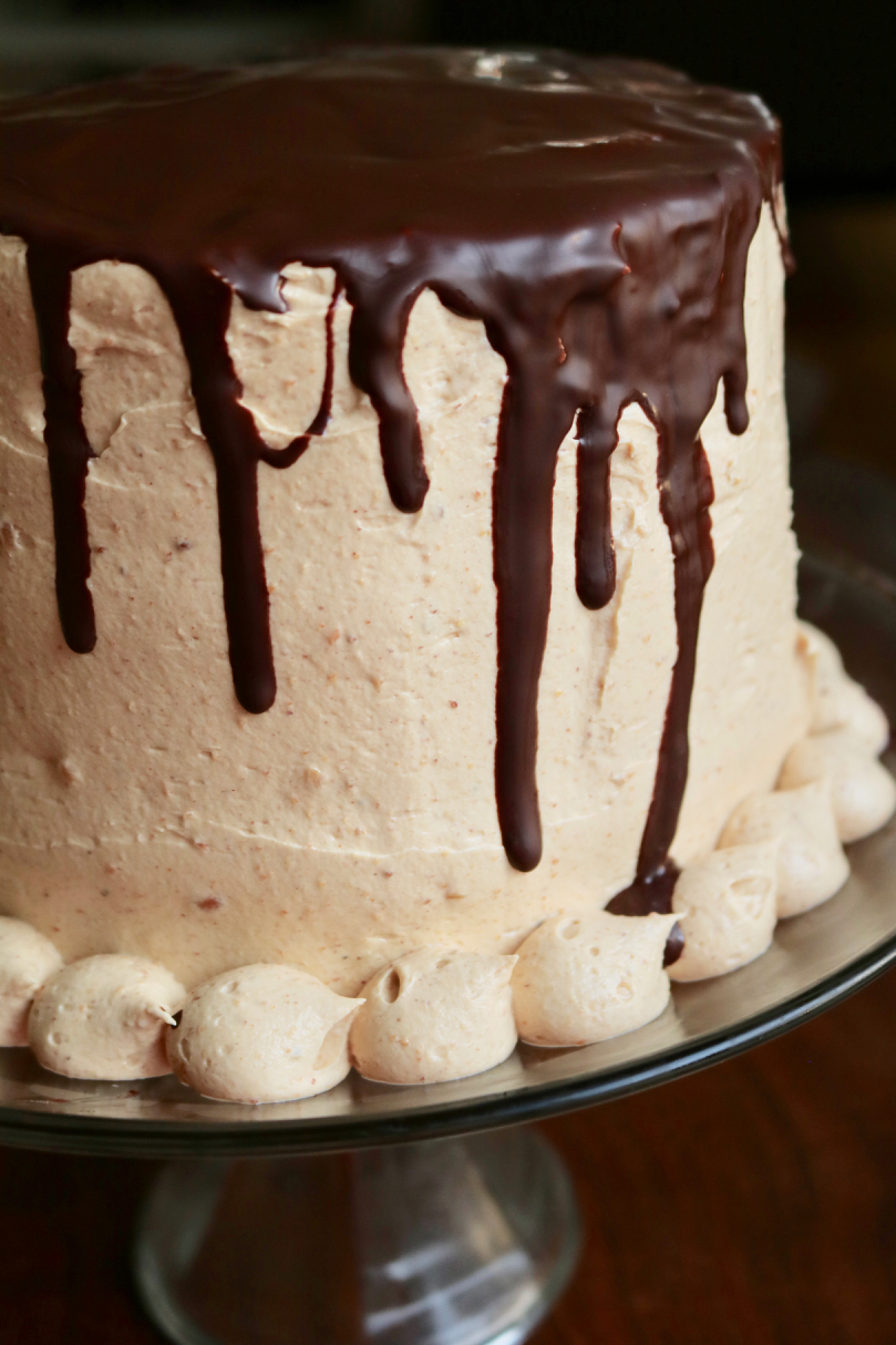 Chocolate cake with peanut butter frosting 2